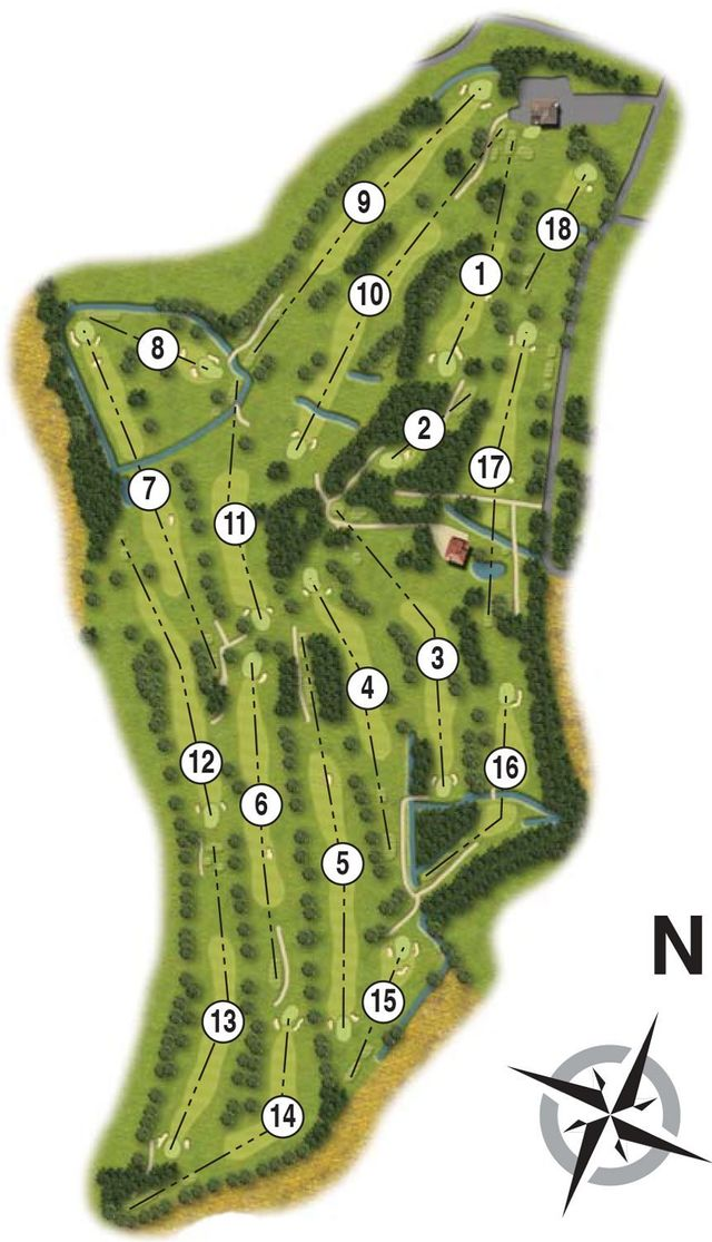 Course Planner of our picturesque Warwickshire golf course