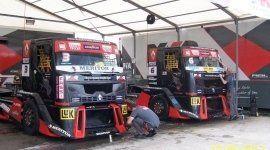 riparazione, balestra, camion