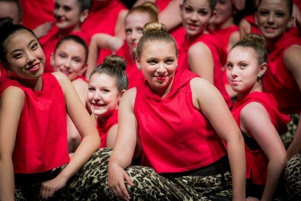 Dancers in Red in Show