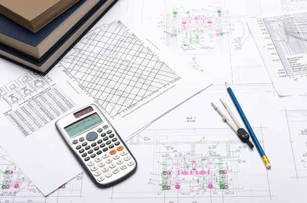 Engineering drawing with tools
