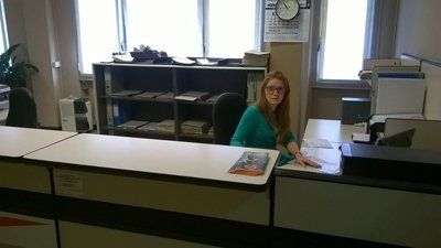 segretaria in ufficio