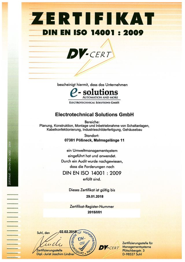 DV Cert Logo 9001