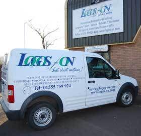 Logos on's van
