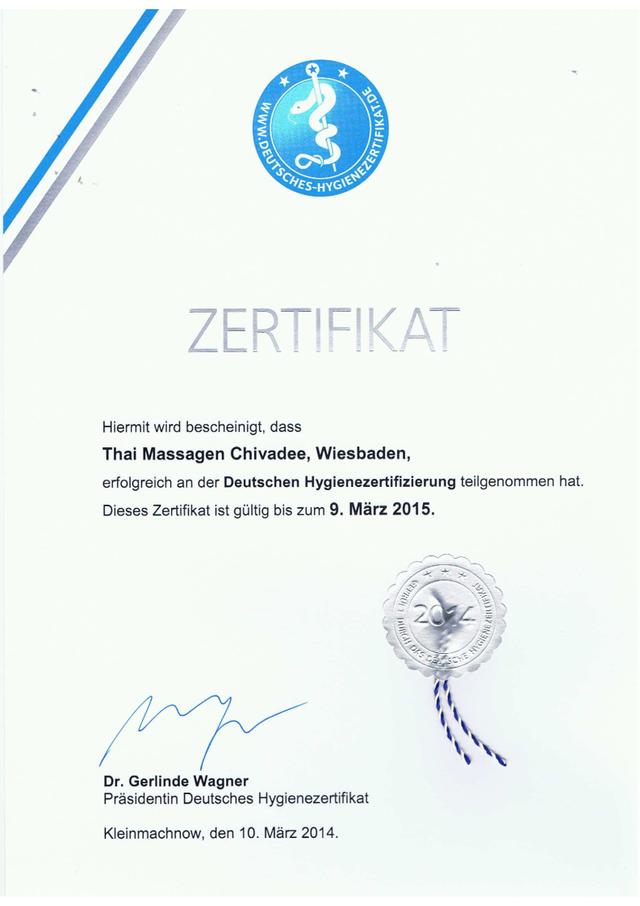 Zertifikationen