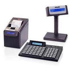 un registratore di cassa e uno macchina stampa scontrino
