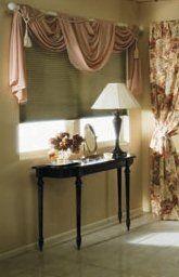 Window coverings in living room