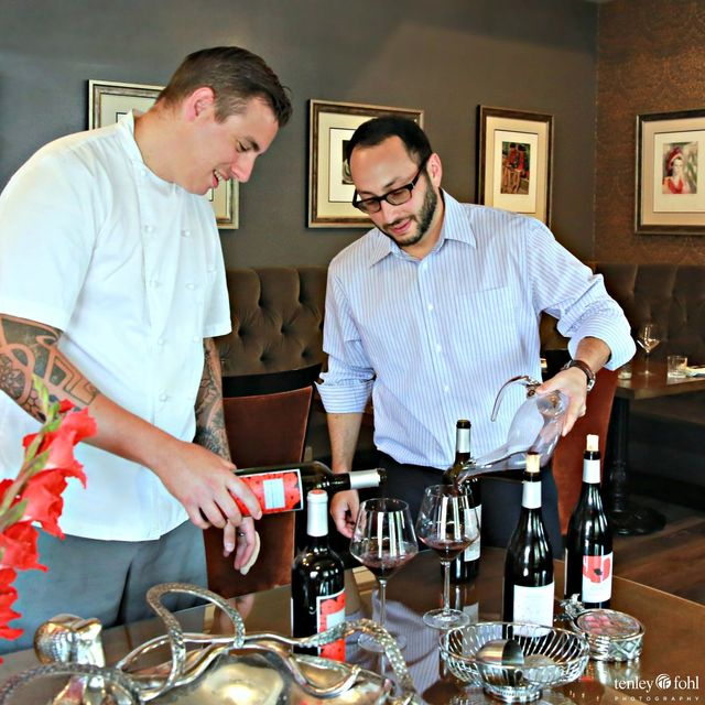 Chef Steven Snook and Jonathan Rosenson
