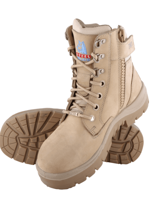 27100d3c47f Sand colours Southern Cross work boots by Steel Blue
