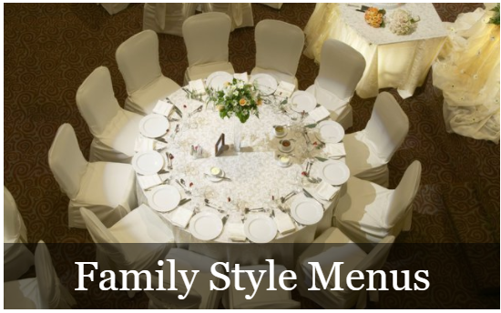 Family style menus by Wild Thyme catering