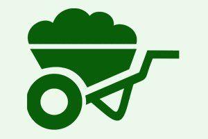 Icona della carriola da giardinaggio