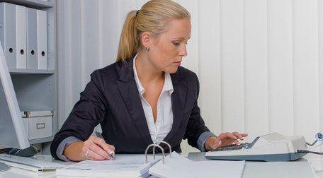 a lady accountant