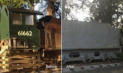 Pre and post grit blasting