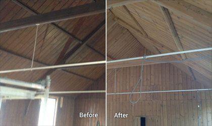 Blast cleaned roof