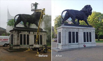 Monument cleaning