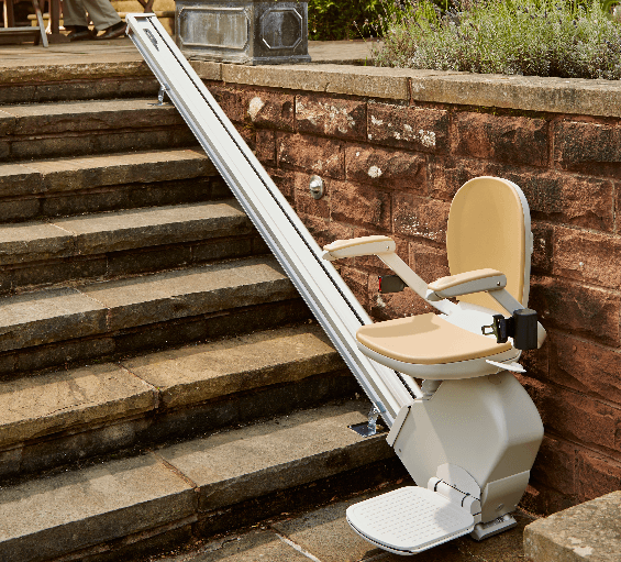Stairlift in a house