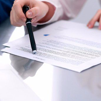Lawyer adviser analyzing financial figures