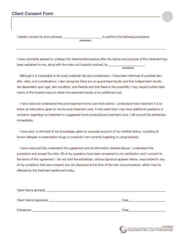 Consent & Treatment Forms