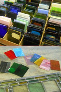 Pieces of colored glass