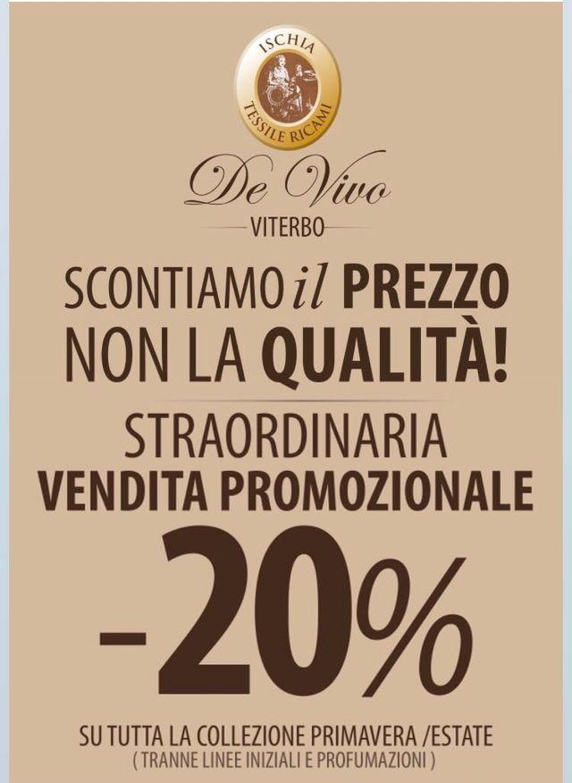 vendita promozionale 20%