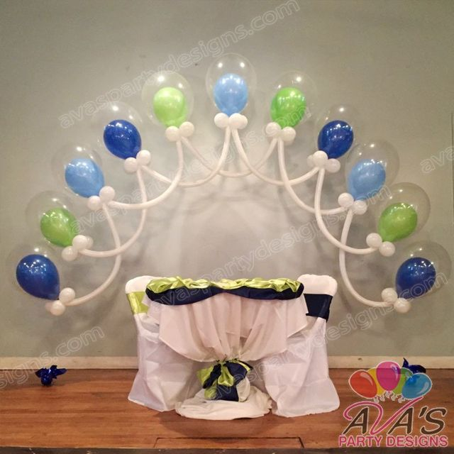 Double Bubble Arch, baby shower balloon arches