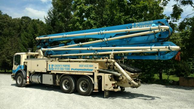 Concrete Boom Pumps – Pittsburgh, PA - L &E Concrete Pumping Inc