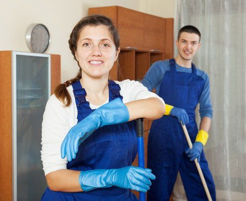 experienced cleaning team