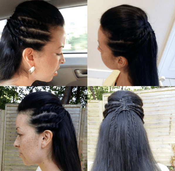 Braided hairdo-north london