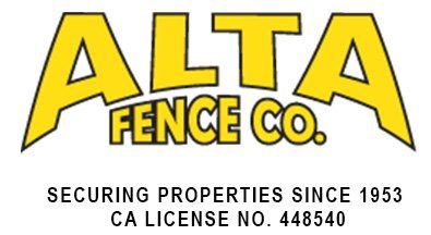 Alta Fence Co Fencing Contractor Since 1953
