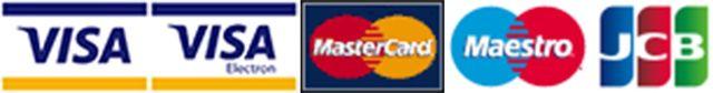 PayPal VISA MAESTRO logos