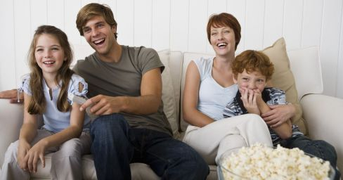 family enjoying television antenna installation in New Plymouth