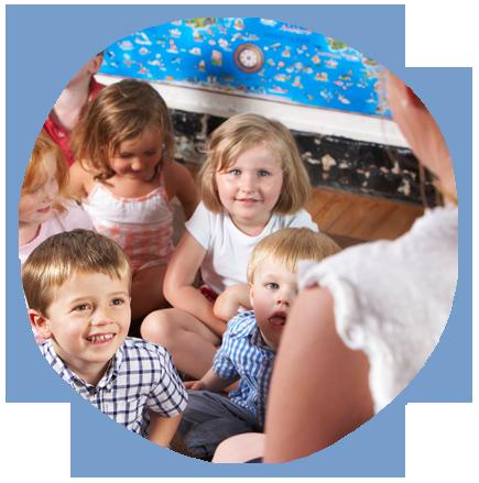 children enjoying the class
