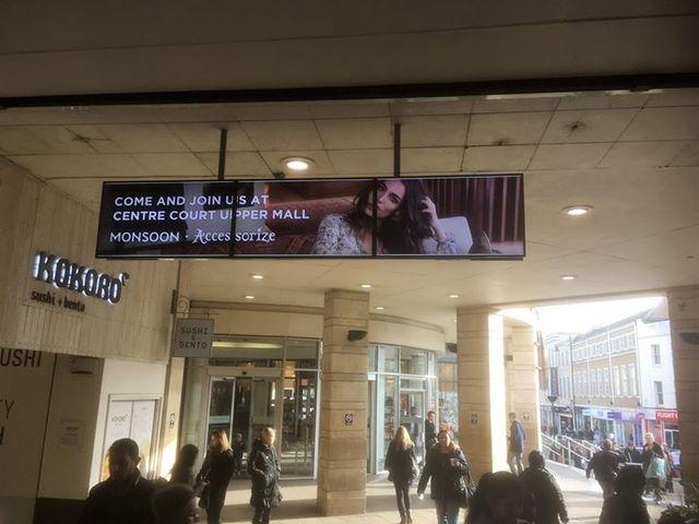 Digital signage in train station