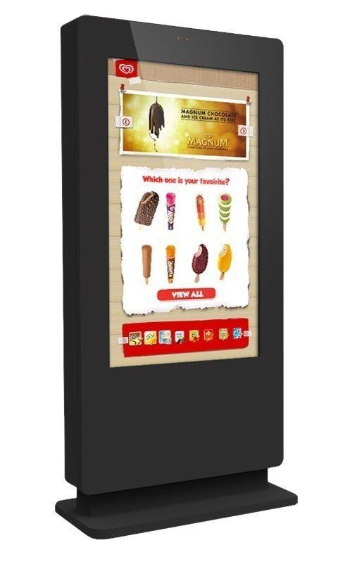HT Outdoor PCAP Freestanding Multi Touch Screen Poster 84""