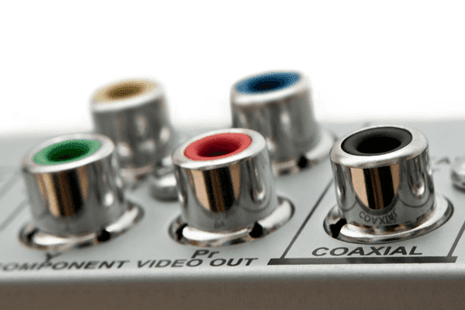 Audio and video input and output jacks