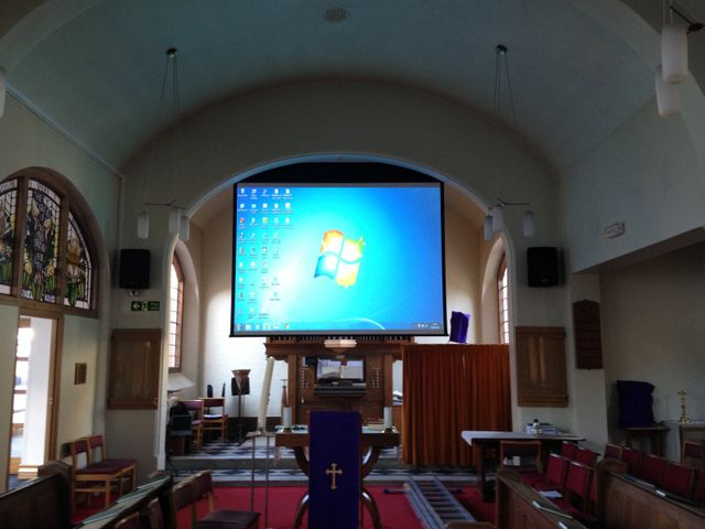 Church Projector install