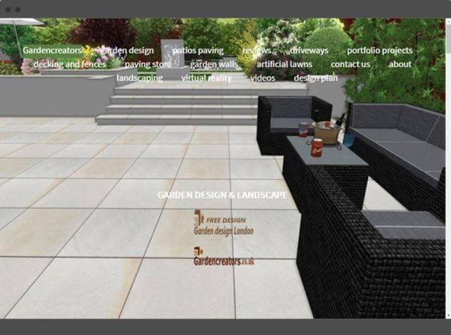 website design garden designer