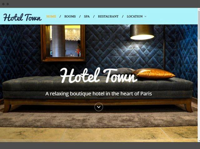 web designer hotel website