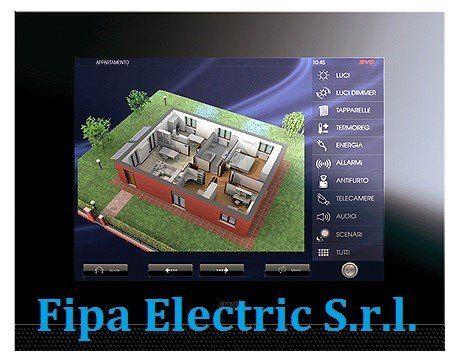 un pannello color rame con scritto Fipa Electric S.r.l