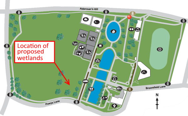 location of wetlands in broomfield park