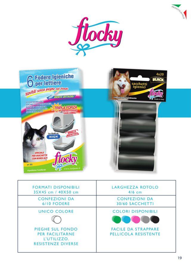flocky-6 fodere igieniche per lettiere- formati disponibili