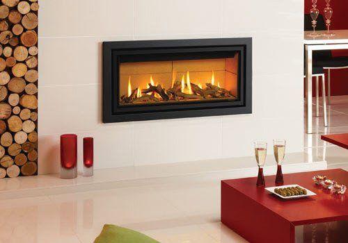 Studio 2 Profil Glass Gas Contemporary Fire Surround