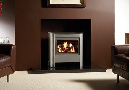 Steel Manhattan Gas Fire