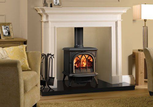 Huntingdon 30 Black Wood Burning Stove