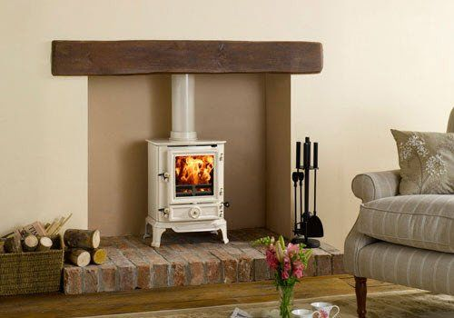 Brunel White Log Burning Stove Wood Burning Stove
