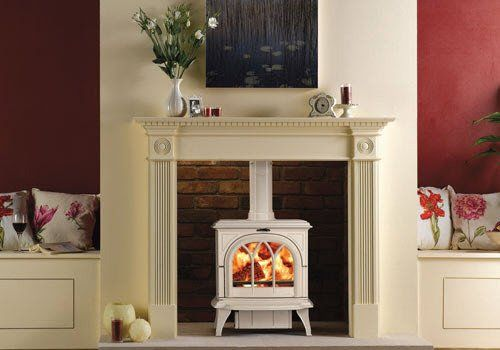 Huntingdon 30 White Wood Burning Stove