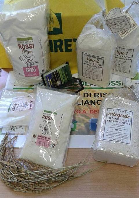 Diversi tipi di riso di Azienda Agricola Rossi a Bellinzago Novarese