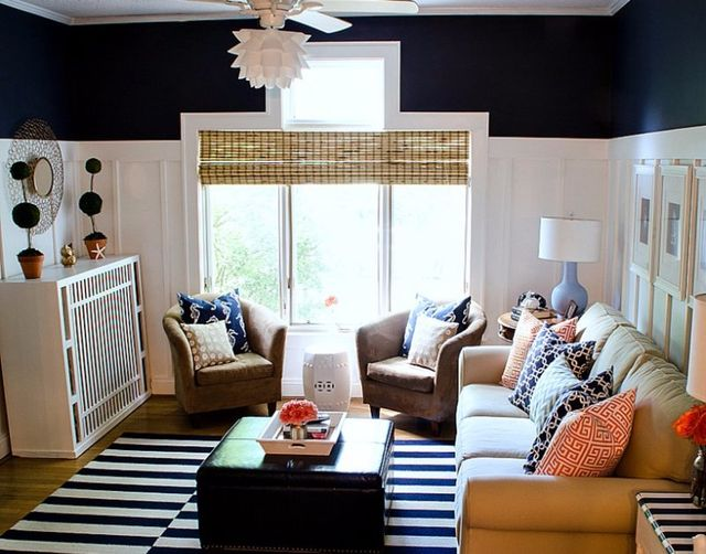 Painted living room walls
