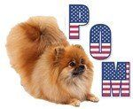 Pom with flag letters