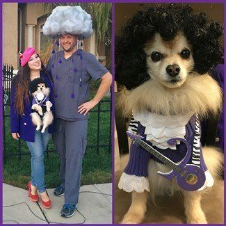 winner - cutest costume duo or group with Pomeranian - Halloween