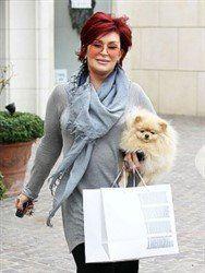 Sharon Osborne famous star with Pomeranian